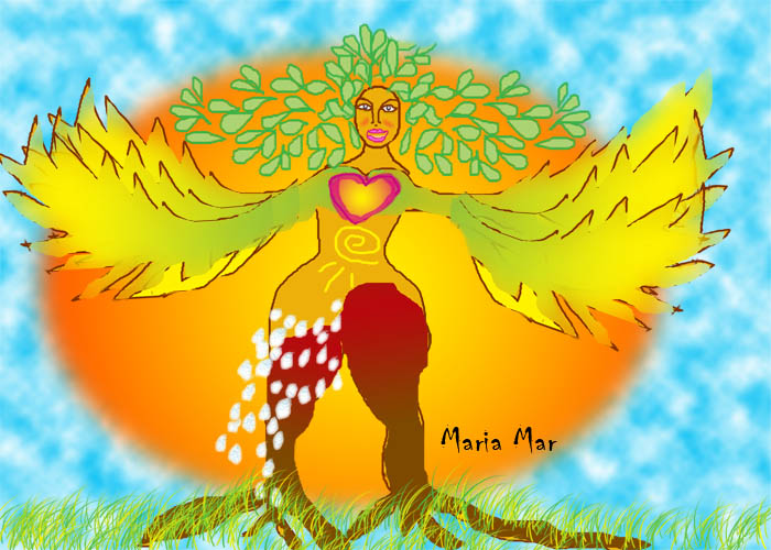 Free your Goddess, by Maria Mar(c), digital art Click to see larger size.
